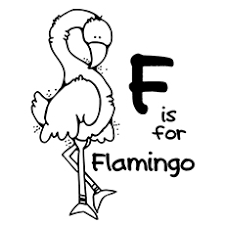 pictures of flamingos to color. Brilliant Color Flamingo Coloring Pages  F For On Pictures Of Flamingos To Color G