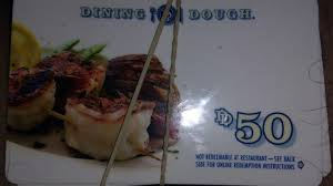 50 dining dough gift card 1 of 1only 2 available see more