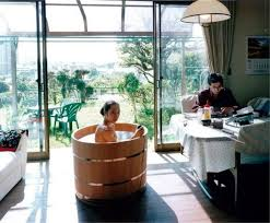 image of japanese style tub and shower
