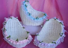 Decorated Willow Bassinet - Baby Shower Decorations - The Perfect ...