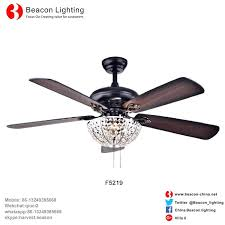 beacon lighting ceiling fans new design whole factory style wood crystal ceiling fans lighting for beacon lighting