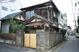 japanese fence design. Traditional Japanese Architecture Design Old House In Koenji A Wood With Concrete And Wooden Panels Fence For Exterior Two Storey H