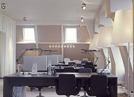 office design inspiration. Stunning Office Interior Design Inspiration Applying Beautiful Lamp: Extravagant Modern Style Spacious Room Interior. « I