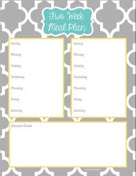 weekly meal planning for two 27 images of 2 week menu planner template tonibest com