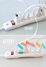 before and after cord organization 16 diy organizers