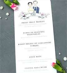 Sample Breakfast Menu Template Enchanting Free Wedding Breakfast Menu Template Sample Getpicksco