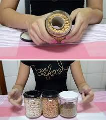jar that looks like full of grains