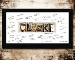 Personalized Wedding Guest Signing Prints Create A Name Letter Artwork