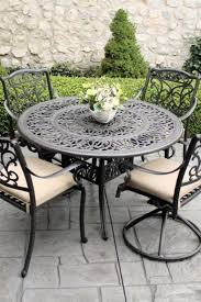 black wrought iron outdoor chairs off