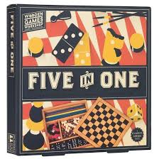 Wooden Games Compendium Professor Puzzle Five In One Games Compendium Games 36