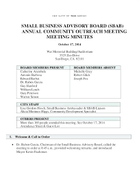 Free Sample Meeting Minutes Templates Committee Business Analyst