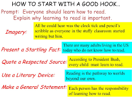 good introductions hooks the reader make me excited to your  how to start a good hook prompt everyone should learn how to read