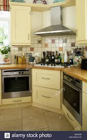 Fitted Kitchen Traditional Cream Fitted Kitchen With Two Ovens And Corner Hob