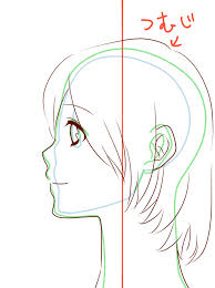 初心者向け人物の横顔描き方 ザコもんのイラスト日記