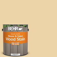 Wood Color Paint Behr 1 Gal Sc 133 Yellow Cream Solid Color House And Fence Wood