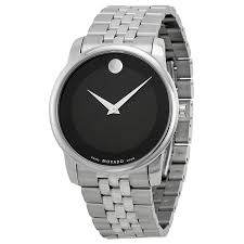 movado watches jomashop movado stainless steel black museum dial men s watch