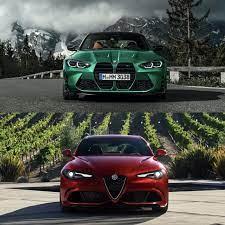 Photo Comparison Bmw M3 Vs Alfa Romeo Giulia Quadrifoglio Bmw Alfa Romeo Giulia Quadrifoglio Bmw M3