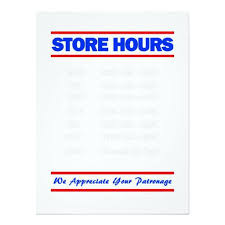 printable store hours sign store hours sign printable template business construktor info