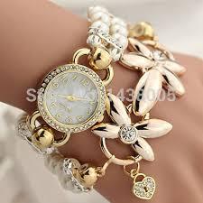 New <b>Fashion</b> Luxury Pearl Bracelet Quartz Watches Women Casual ...