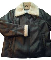 levi s leather jackets dark brown for women