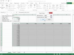 How To Create A Two Variable Data Table In Excel 2016 Dummies