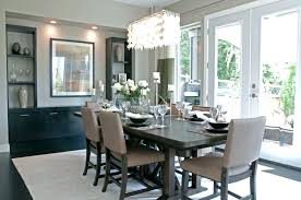chandelier height above dining table