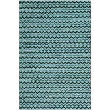 montauk turquoise blue black 4 ft x 6 ft area rug