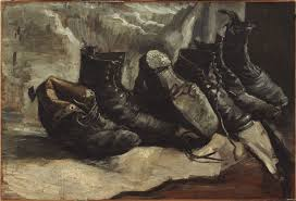 three pairs of shoes 1886 1887 oil on canvas 19 5