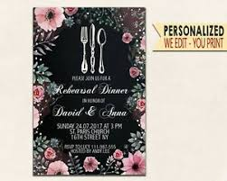 Dinner Invation Details About Rehearsal Dinner Invitations Template Invitation Party Invitation Chalkboard