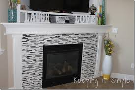 stylish design mosaic tile fireplace fresh idea keeping it simple fireplace makeover with mosaic tiles