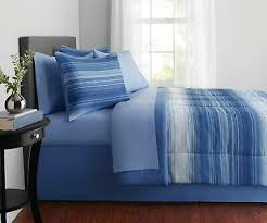 mainstays blue medallion bed in a bag