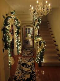 Lighted Garland Indoor Foyer Entrance Christmas Lighted Garland I Love Everything