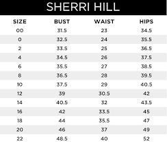 Sherri Hill Size Chart Sherri Hill Prom Dress Size Chart Fashion Dresses