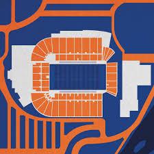 Albertsons Stadium Map Art