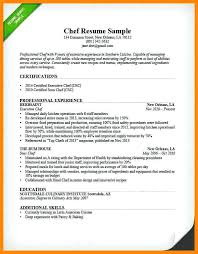 Chef Resume Template Executive Chef Resume Sample Junior Sous Chef