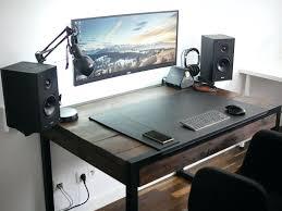pc desk setup computer desk layout ideas
