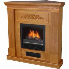 decor flame electric space heater fireplace with 38 mantle oak com