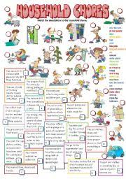 English Exercises Household Chores
