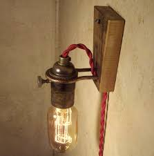 cool wall lighting. Industrial Plug In Wall Sconce With Brashed Nickel For Lighting Fixtures Cool