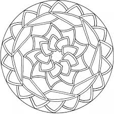 Mandala Coloring Pages Kids Free Simple Mandala Coloring Pages