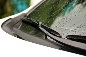 wipers on windshield of car