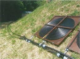 diy solar pool heating in tuscany by filpumps pipework connection between pump filter chamber and solar pool heater