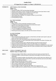 Awesome Qa Engineer Resume Sample Is So Famous