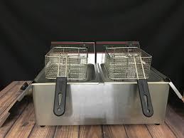 Bếp chiên nhúng điện đôi 12 lít - Nồi chiên Thương hiệu OEM