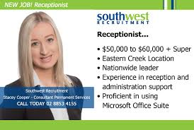 Receptionist Jobs Sydney South West Invizibil