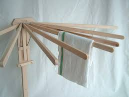 wall mounted drying rack favorite clothes dryer wooden mount 8 arm new expandable white