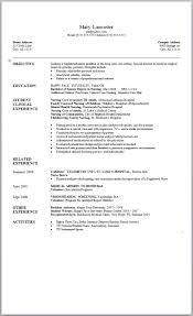 Nurses Resumes Sample New Graduate Nurse Resume 24 Sample Nursing Resumes Graduate 22