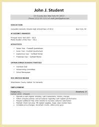 High School Resume For College Best College Resume Templates Resume And Cover Letter Resume And
