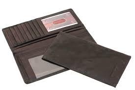 paul taylor men women genuine leather checkbook wallet removable checkbook cover card holder com