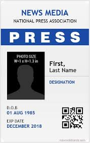 Blank Id Card Template Fascinating 44 Best Press Reporter ID Card Templates Microsoft Word ID Card